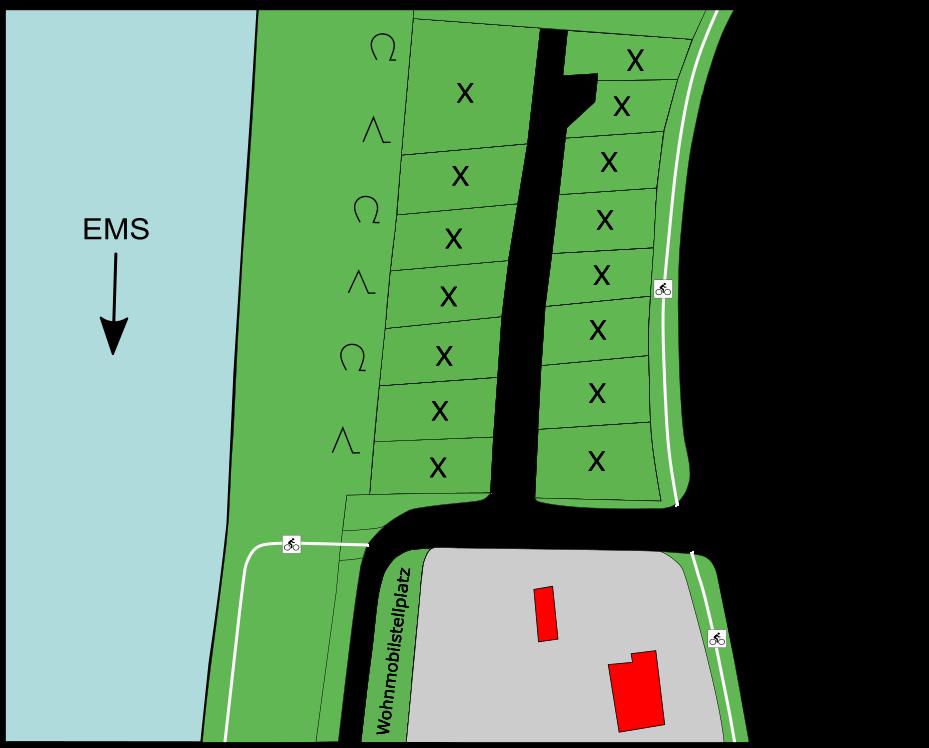Plan Campingplatz Marinapark
